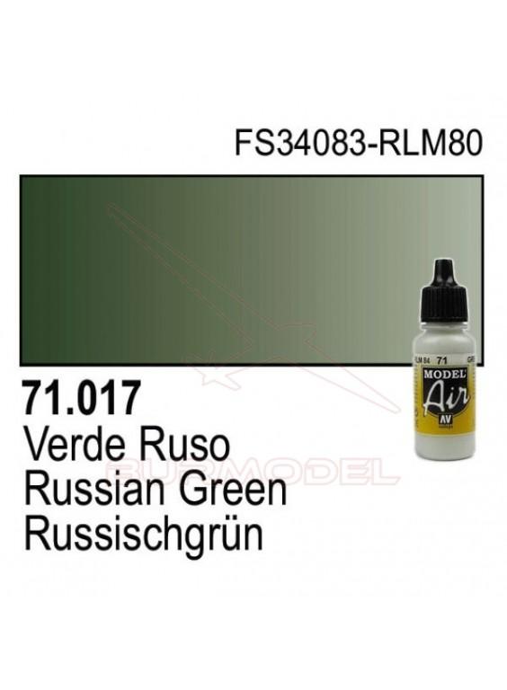 Pintura Vallejo Verde ruso 017