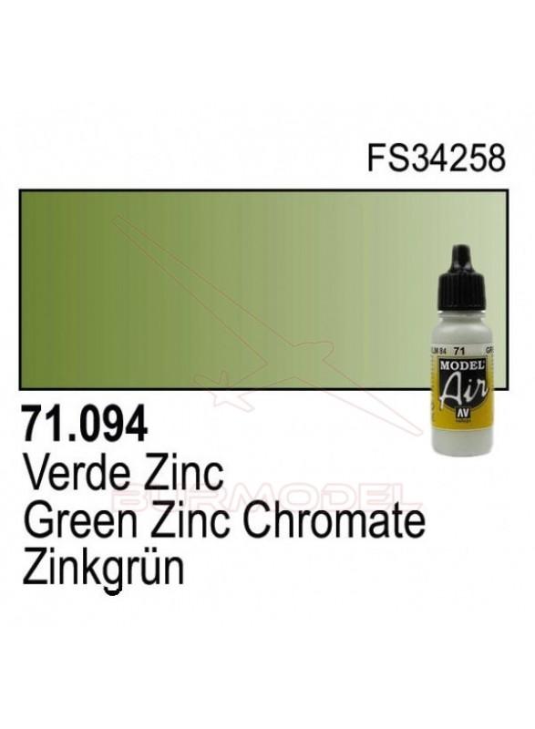Pintura Vallejo Verde Zinc Cromado 094