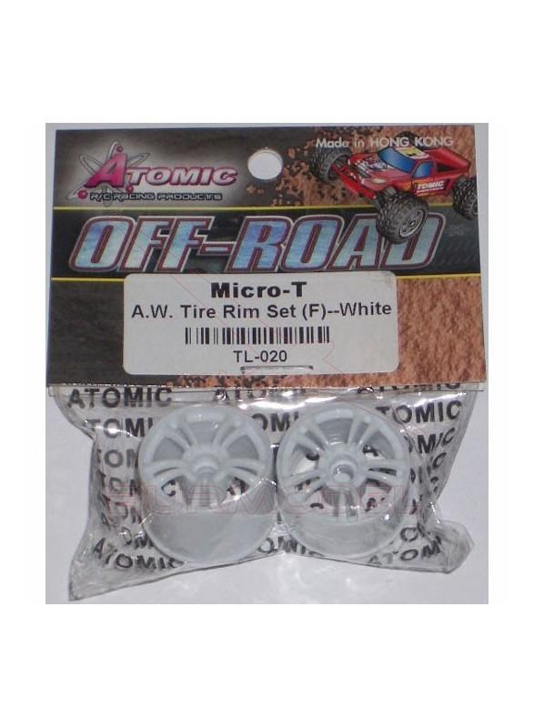 Llantas delanteras blancas micro T