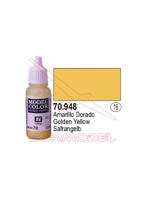 Pintura Amarillo dorado 948 Model Color (016)