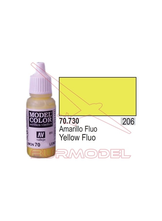 Pintura Amarillo fluoresc. 730 Model Color (206)