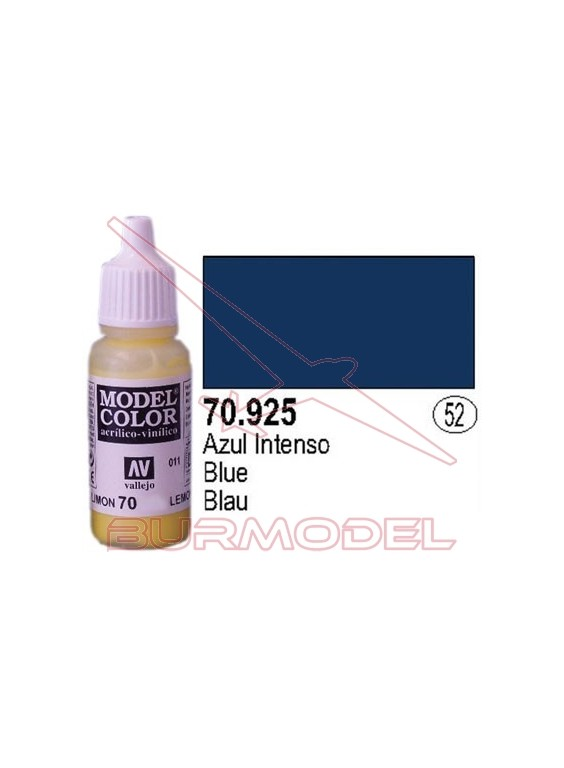 Pintura azul intenso 925 Model color (052)
