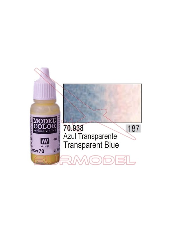Pintura Azul transparente 938 Model Color (187)