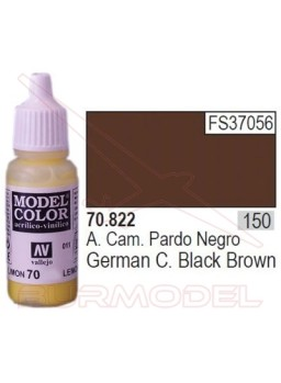 Pintura Negro pardo alemán 822 Model Color (150)