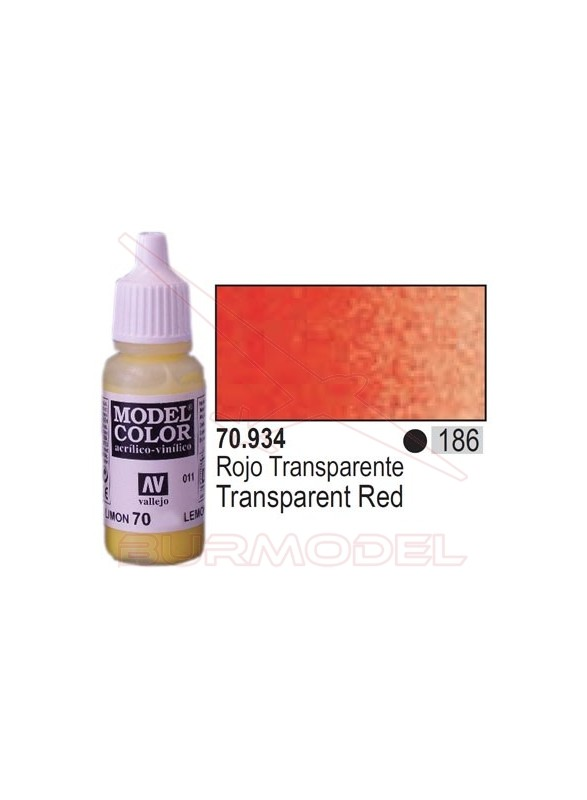 Pintura Rojo transparente 934 Model Color (186)