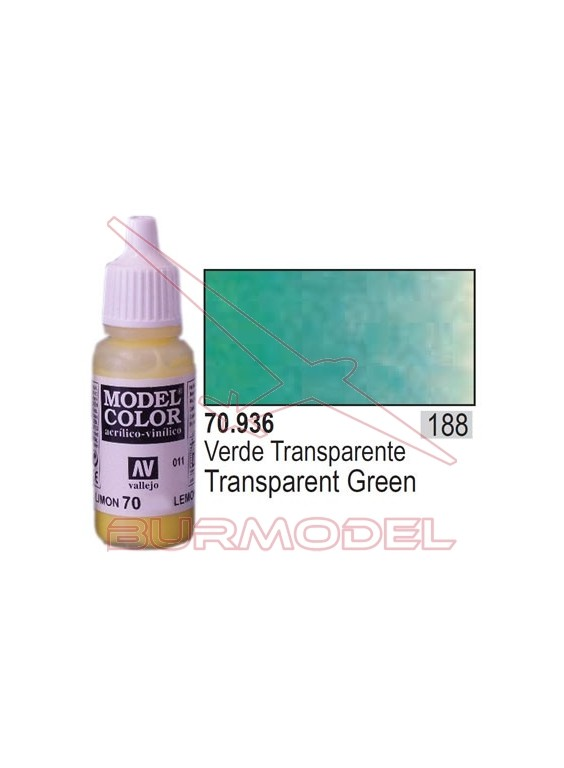 Pintura Verde transparente 936 Model Color (188)