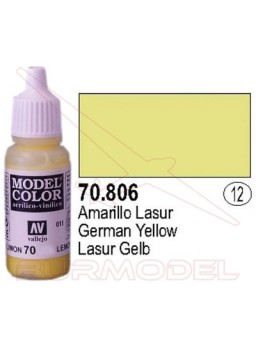 Pintura Amarillo lasur 806 Model Color (012)