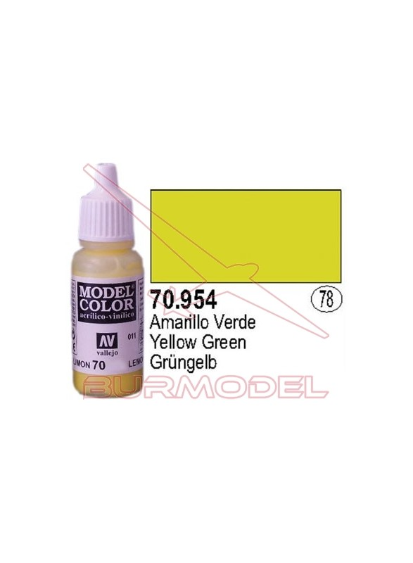 Pintura Amarillo verde 954 Model Color (078)