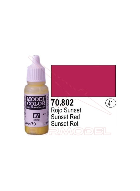 Pintura Rojo sunset 802 Model Color (041)