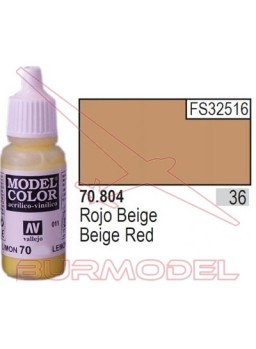 Pintura Rojo beige 804 Model Color (036)