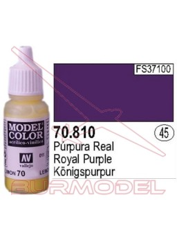 Pintura Púrpura real 810 Model Color (045)