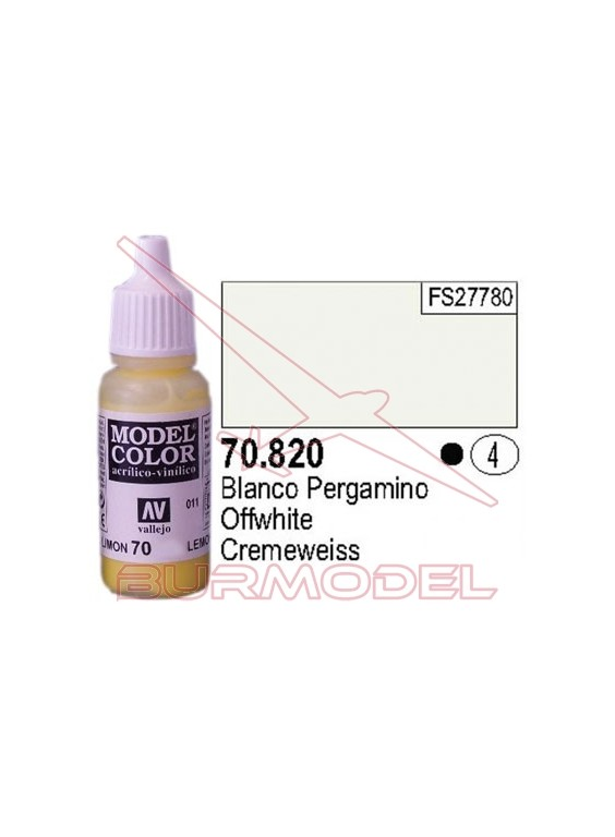 Pintura Blanco pergamino 820 Model Color (004)