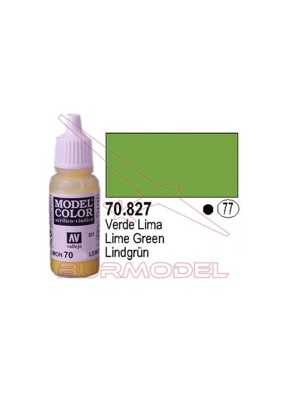Pintura Verde lima 827 Model Color (077)