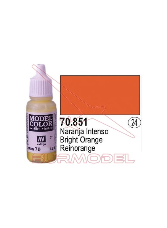 Pintura Naranja intenso 851 Model Color (024)