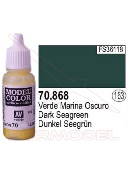 Pintura Verde marina oscura 868 Model Color (163)