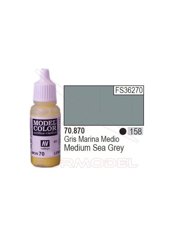 Pintura Gris marina medio 870 Model Color (158)
