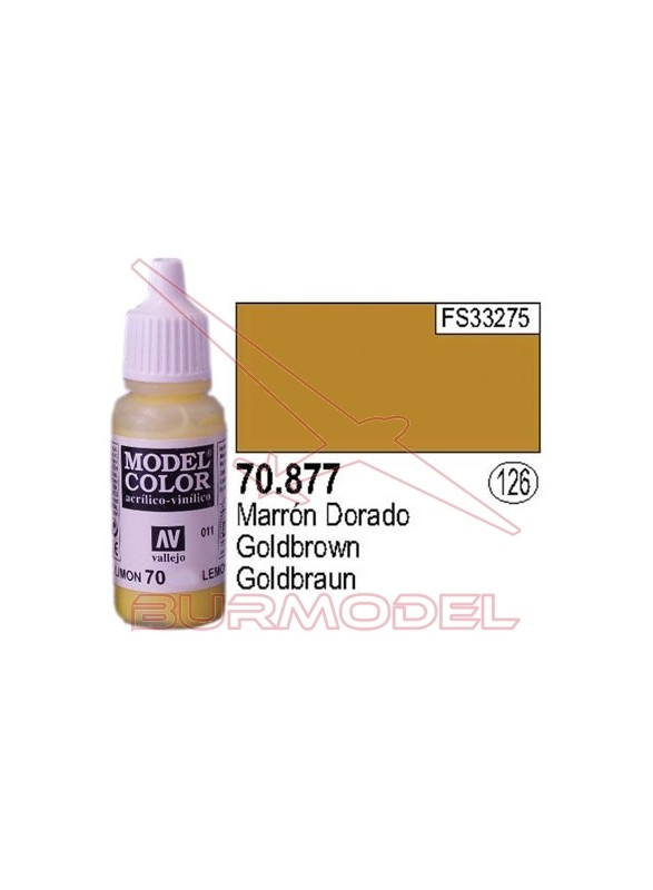 Pintura Marrón dorado 877 Model Color (126)