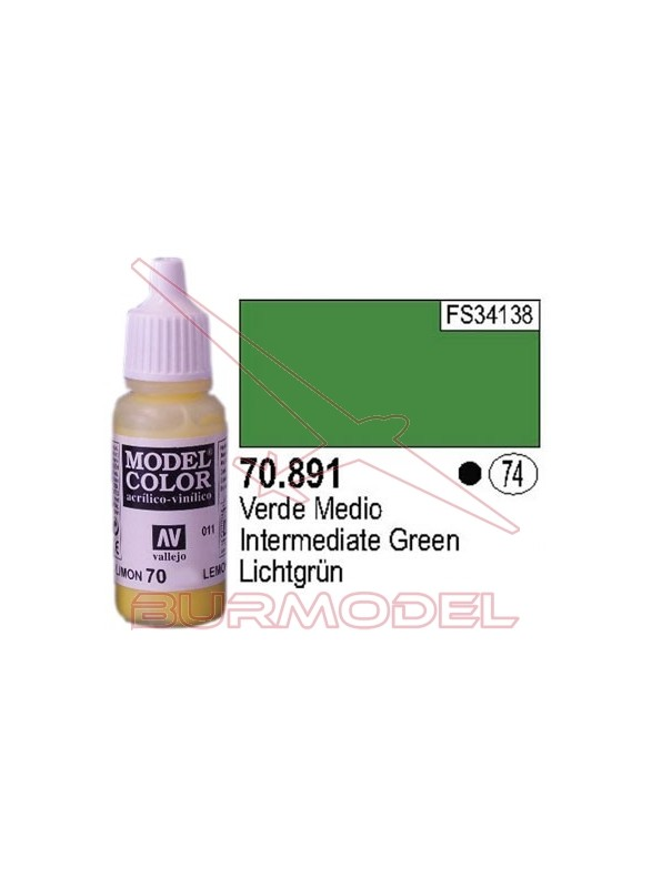 Pintura Verde medio 891 Model Color (074)