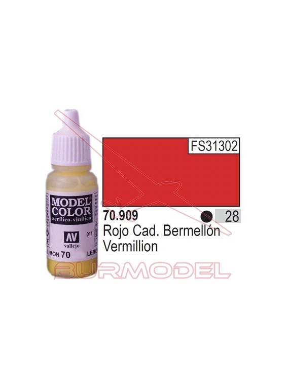 Pintura Rojo cadm. berme. 909 Model Color (028)