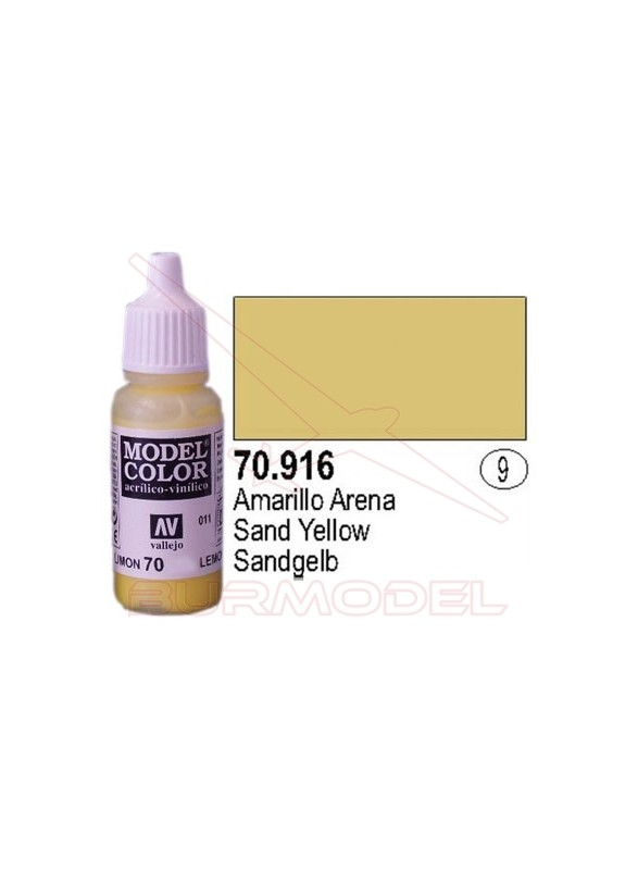 Pintura Amarillo arena 916 Model Color (009)