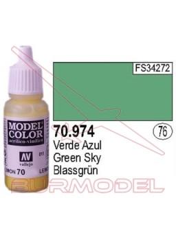 Pintura Verde azul 974 Model Color (076)