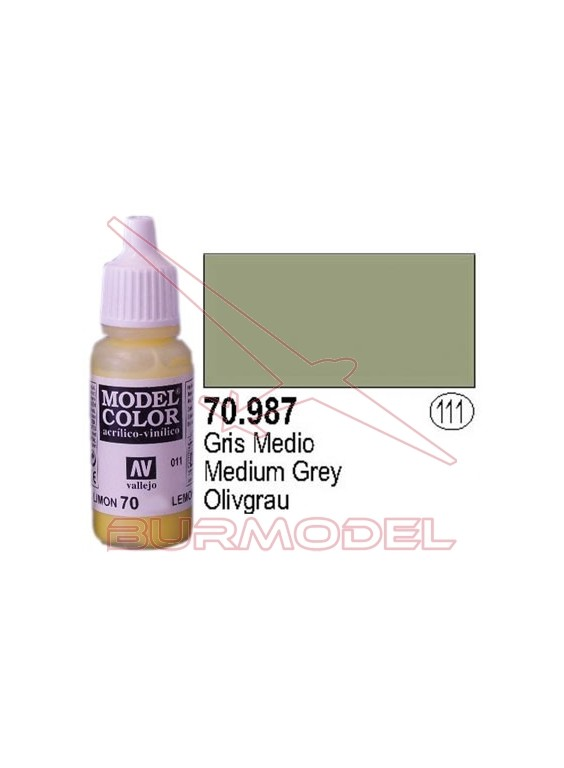 Pintura Gris medio 987 Model Color (111)