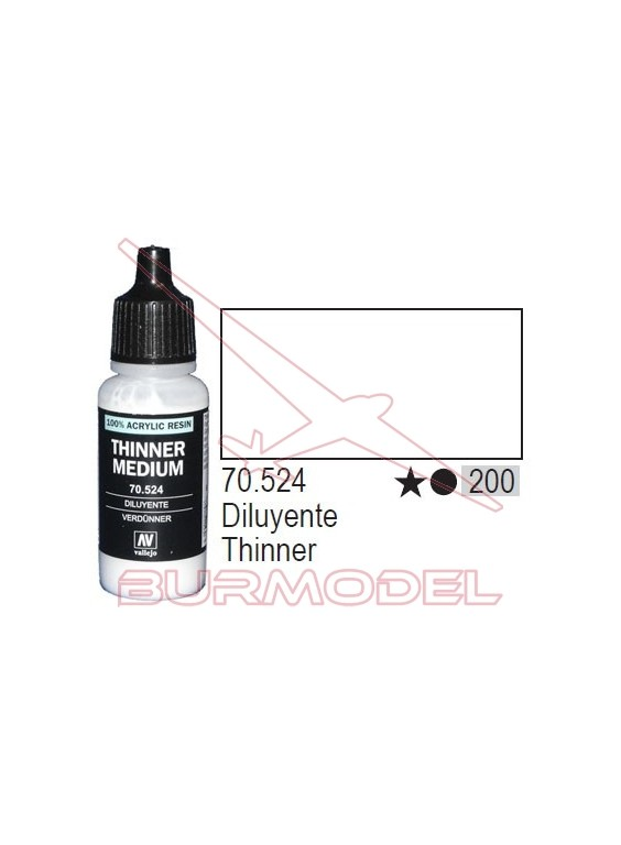 Diluyente 524 Model Color (200) 17 ml