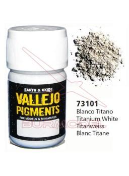 Pigmento Vallejo blanco titanio