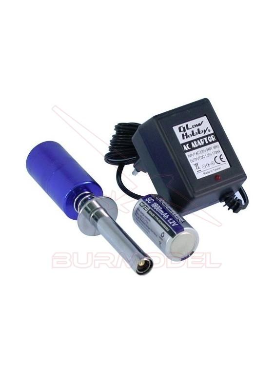 Chispómetro con batería recargable y cargador