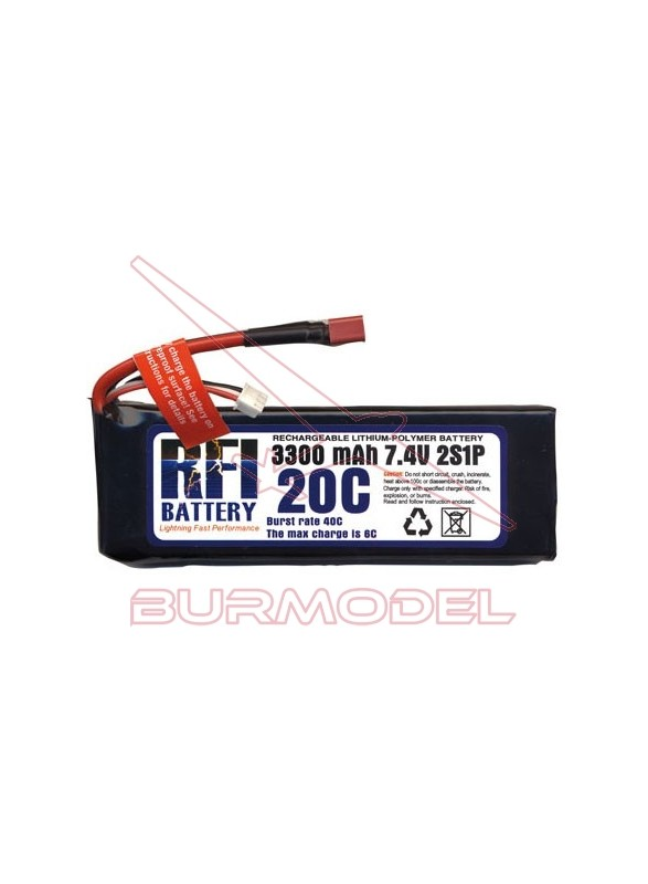 Batería lipo 7.4 V 3200 mAh 20C BSD Racing