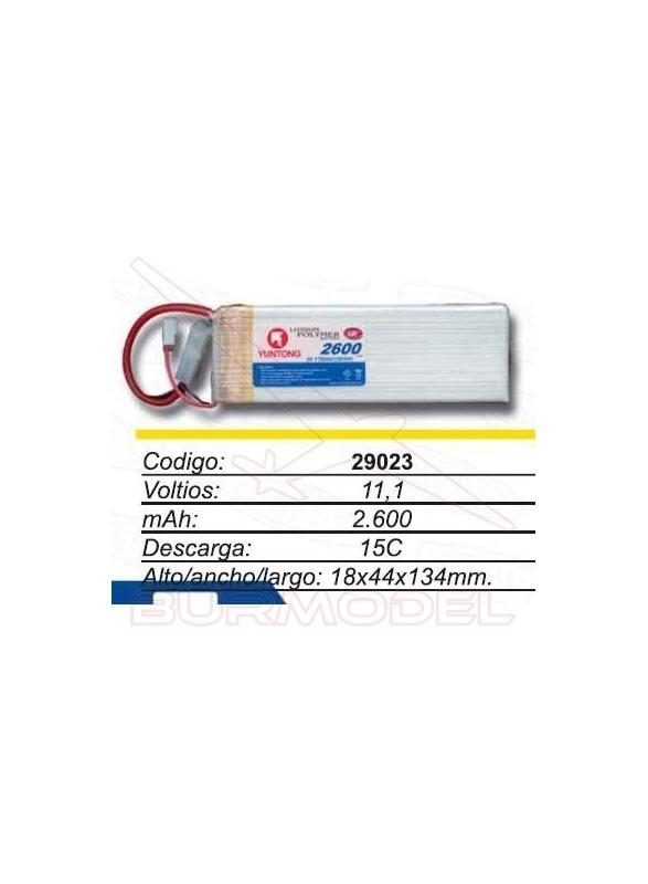 Batería Lipo 11.1 V 2600 mAh