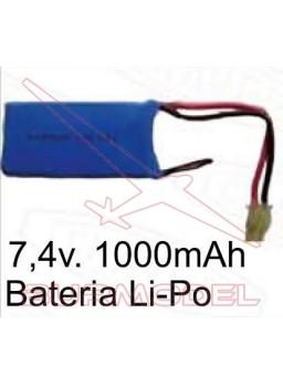Batería 7,4v 1000 mAh. Para avión Glider 55206