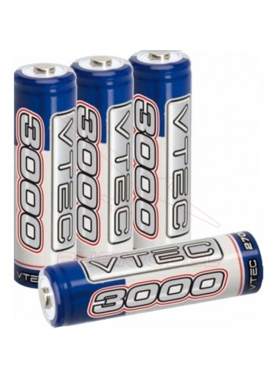 Batería 1,2v 3000 Mah Vtec AA