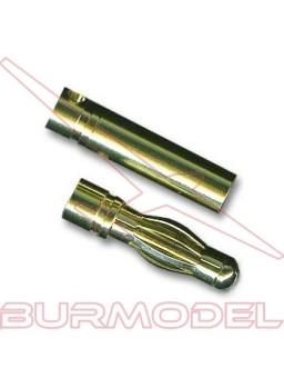 Conector PK 4 mm oro m/h