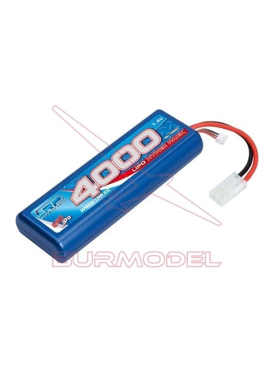 Batería 7,4v 4000 mAh LiPo 25C caja dura