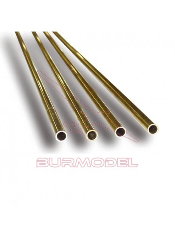 Tubo de latón 2.00 x 0.45 x 1000 mm