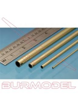 Tubo micro latón 0.50x0.30 mm (3 unid.)