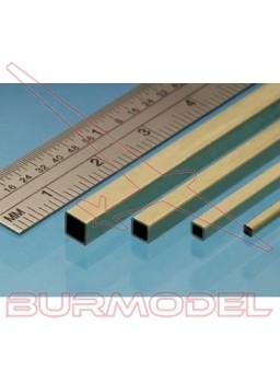 Tubo cuadrado de latón 4.76 mm (2 unidades)