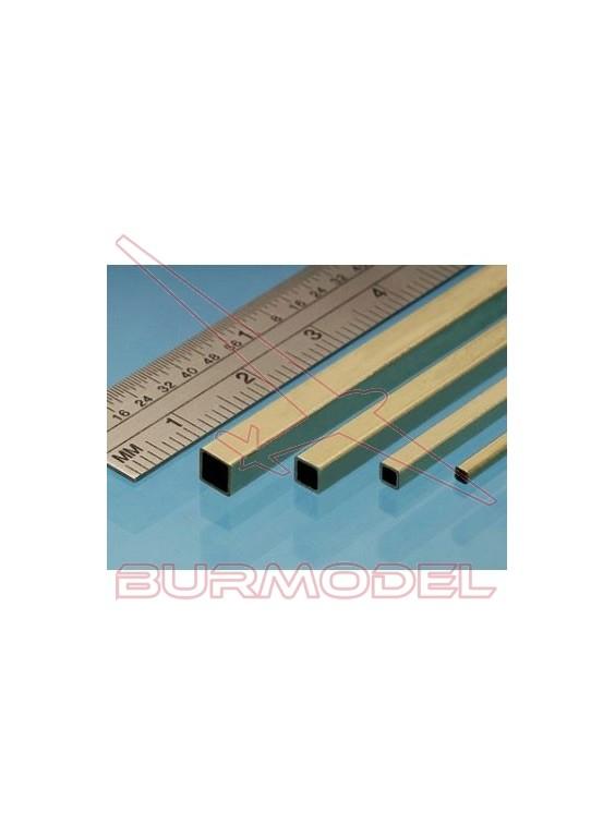 Tubo cuadrado de latón 5.55 mm (2 unidades)