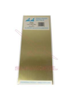 Plancha de latón 100x250x0.12 mm (2 unid.)