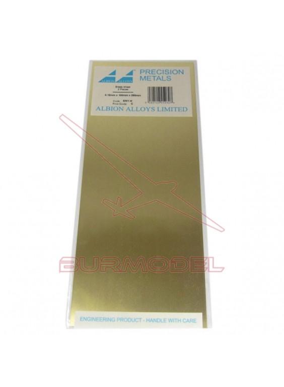 Plancha de latón 100x250x0.25 mm (2 unid.)