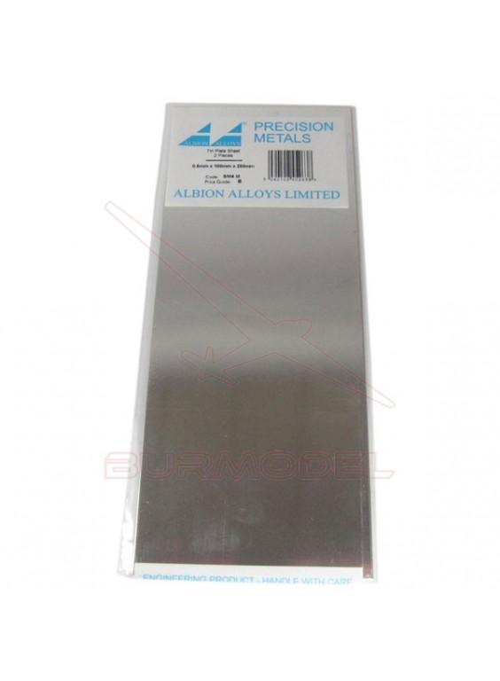 Plancha de plata 100x250x0.50 mm
