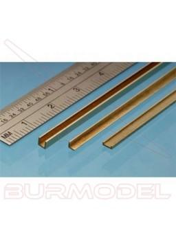"""""""U"""" de latón 1.50 x 1.00 mm (1 unidad)"""