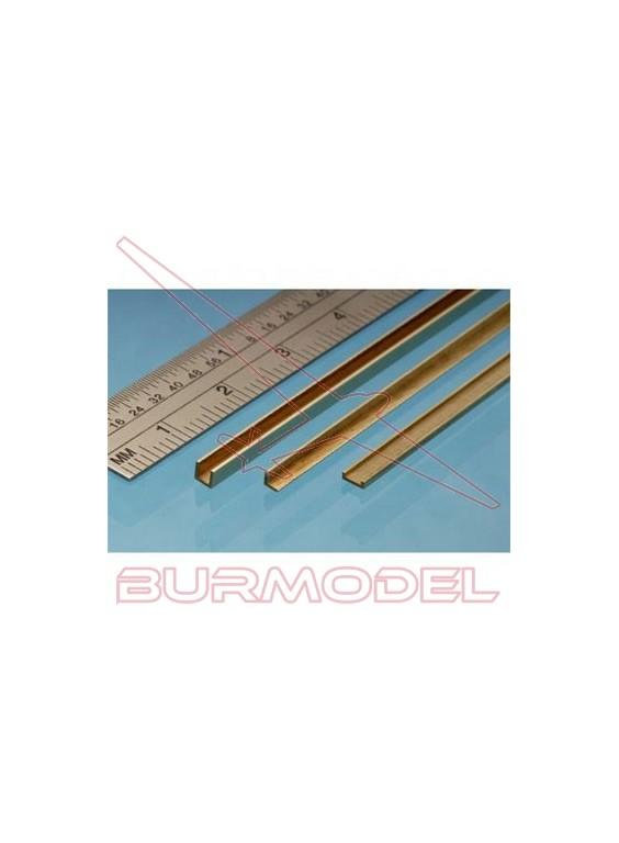 """""""U"""" de latón 2.50 x 1.00 mm (1 unidad)"""