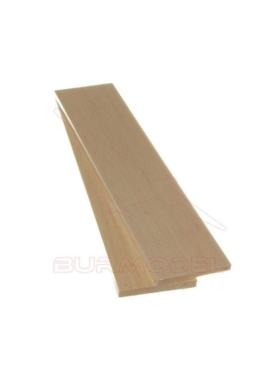 Plancha madera de balsa 3.00 x 100 x 1000 mm