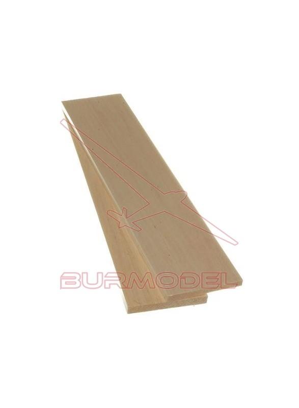 Plancha madera de balsa 4.00 x 100 x 1000 mm