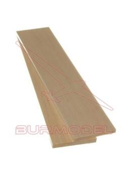 Plancha madera de balsa 15.00 x 100 x 1000 mm