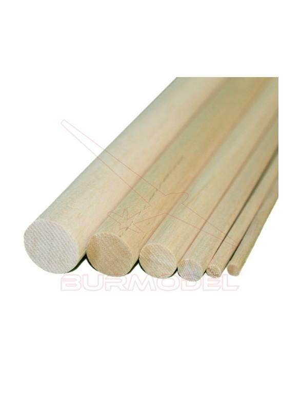 Listón redondo madera de balsa 8.00 x 1000