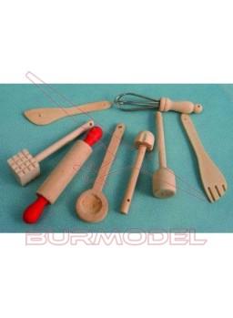 Accesorios cocina en madera