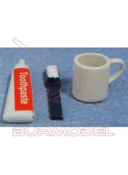 Cepillo de dientes y utensilios